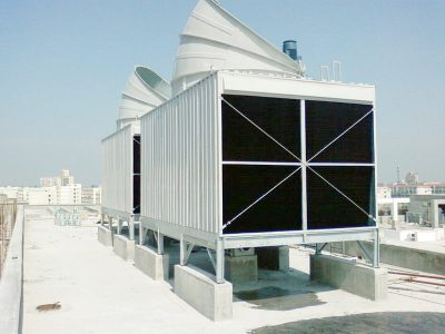 frp cross flow cooling towers