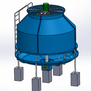 frp counter flow cooling towers in india