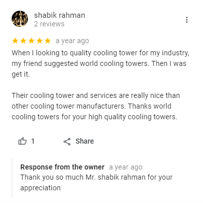 cooling tower review
